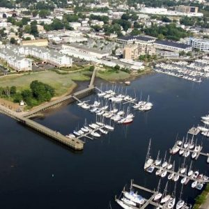 This image shows the stunning aerial view of TGM Anchor Point Marina. Conveniently located with great amenities and are close to everything you need to make your time on your boat enjoyable.
