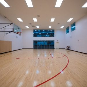 This image shows the premium community amenities, showing the indoor racquetball court that was ideal for those sport-minded residents.